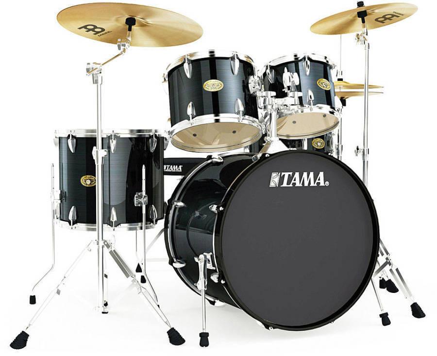 tama imperialstar 18 inch bass drum kit hairline black long mcquade musical instruments. Black Bedroom Furniture Sets. Home Design Ideas