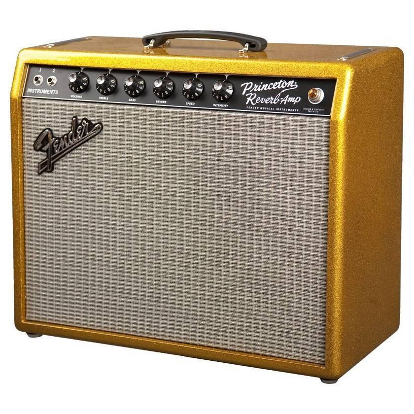 fender 65 39 princeton reverb fsr reissue amp gold sparkle long mcquade musical instruments. Black Bedroom Furniture Sets. Home Design Ideas
