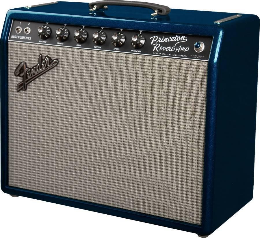 fender 65 39 princeton reverb fsr reissue amp blue sparkle long mcquade musical instruments. Black Bedroom Furniture Sets. Home Design Ideas