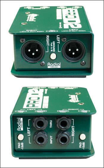 Radial Pro D2 Passive 2 Ch Di Box W Eclipse Xfmr Long
