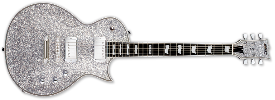 esp guitars eclipse ii electric guitar silver sparkle long mcquade musical instruments. Black Bedroom Furniture Sets. Home Design Ideas