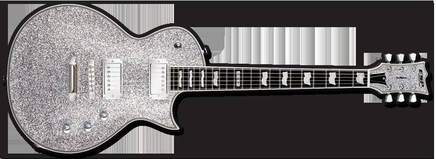 esp guitars eclipse ii electric guitar silver sparkle long mcquade musical instruments. Black Bedroom Furniture Sets. Home Design Ideas