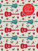 Hal Leonard - Hal Leonard Wrapping Paper: Guitars & Reindeer Theme - 3 Sheets (24x36)