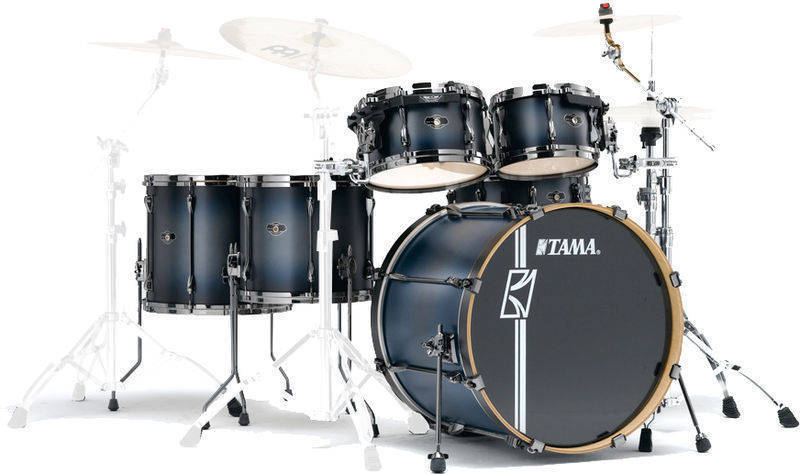 Tama Superstar Hyper-Drive 6 Piece Drum Kit - Brushed Charcoal Black - Long & McQuade Musical Instruments