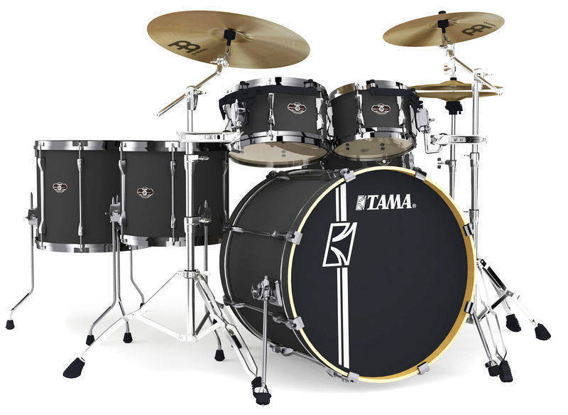 Tama Superstar Hyper-Drive 6 Piece Drum Kit - Flat Black - Long ... bed0574b5