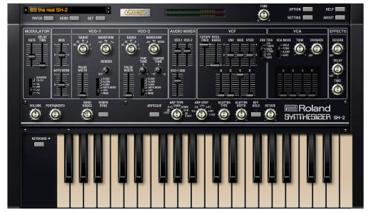 Roland Cloud SH-2 PLUG-OUT Software Synthesizer - Download