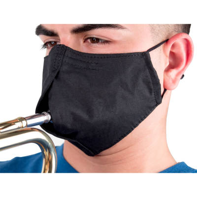 Musician's Face Mask, Black - Medium