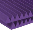 Auralex - Studiofoam 2 inch Deep Wedge (12 Pack) - Purple