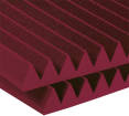 Auralex - Studiofoam 2 inch Deep Wedge (12 Pack) - Burgundy