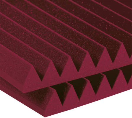 Studiofoam 2 inch Deep Wedge (12 Pack) - Burgundy