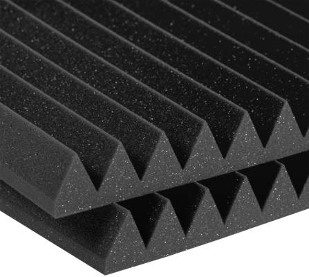 Studiofoam 2 inch Deep Wedge (12 Pack) - Charcoal