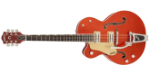 Gretsch Guitars - G6120SSU Brian Setzer Nashville with Bigsby, Left-Handed, TV Jones Setzer Pickups - Orange Flame Maple