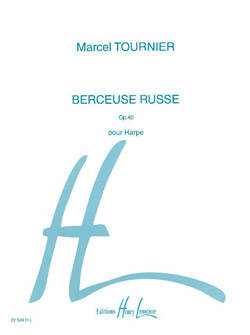 Berceuse Russe,  Op.40 - Tournier - Harp - Sheet Music