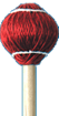 Mike Balter Mallets - Cord Rattan Mallet Soft ( Red )24R