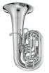XO Professional Brass - 1680SS CC 4-Piston + Rotary Valve Tuba w/17.4 Bell - Silver Plated