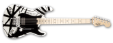 EVH - Stripe Series Electric Guitar - White/Black
