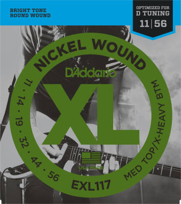 EXL117 - D'addario Xl Elec Medium/heavy Bottom 11-56