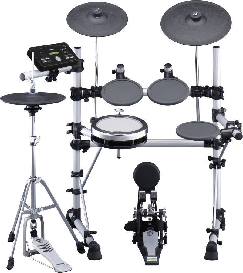 Yamaha 5 piece electronic drum kit with hardware throne for Electric drum set yamaha