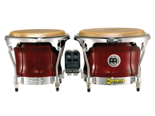Free Ride Series Wood Bongos - 7 & 8.5 Inches - Cherry Red