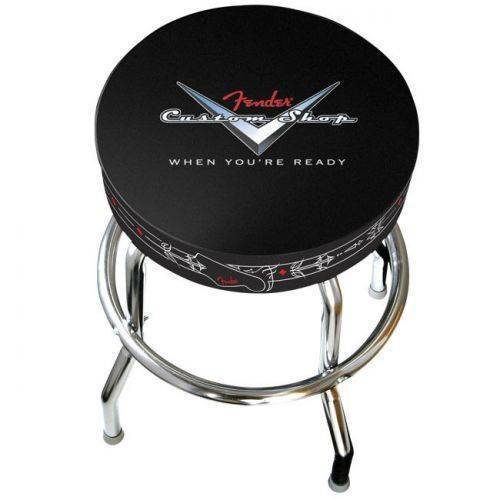 Terrific Fender Musical Instruments Fender Custom Shop Logo Bar Stool 24 Inch Camellatalisay Diy Chair Ideas Camellatalisaycom