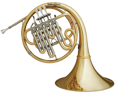 Professional Bb French Horn with A-Stop, Gold-Brass Body and Detachable Bell