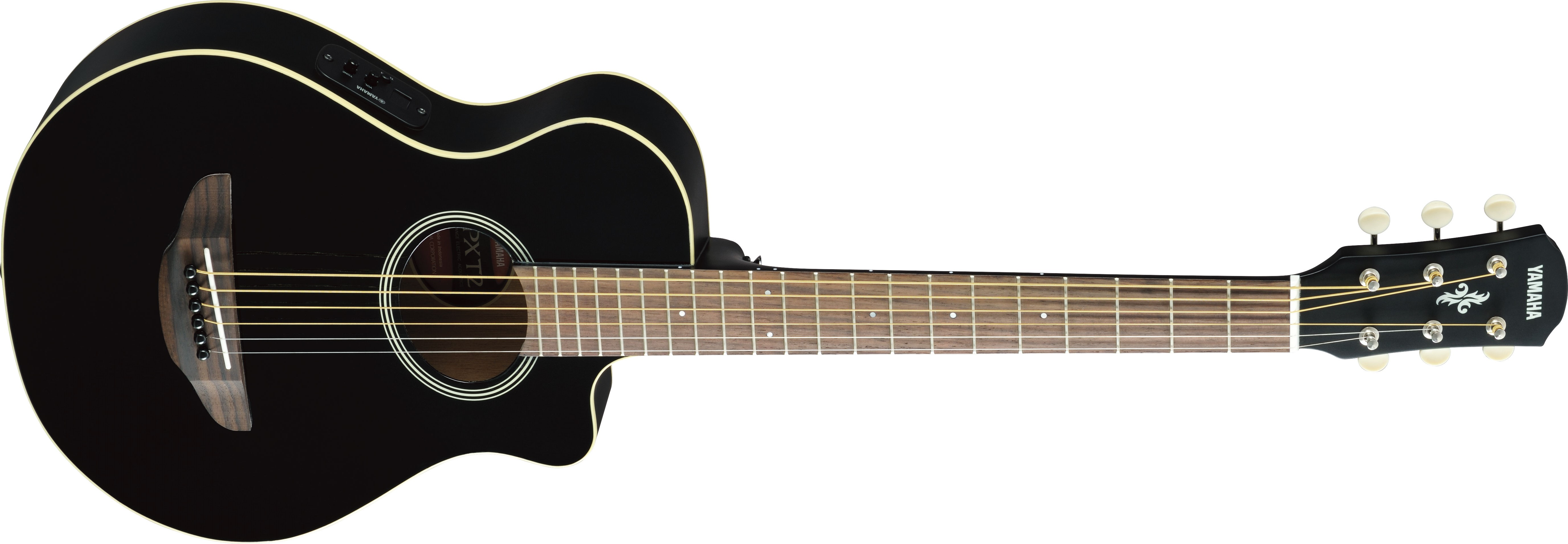 fe779f777d5 Yamaha 3/4 Size Acoustic/Electric Guitar - Black - Long & McQuade Musical  Instruments