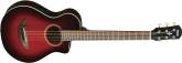 Yamaha - 3/4 Size Acoustic/Electric Guitar - Dark Red Burst