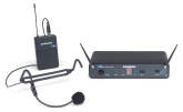 Samson - Concert 88 Headset 16-Channel True Diversity UHF Wireless System with HS5 Headset Microphone - K-Band