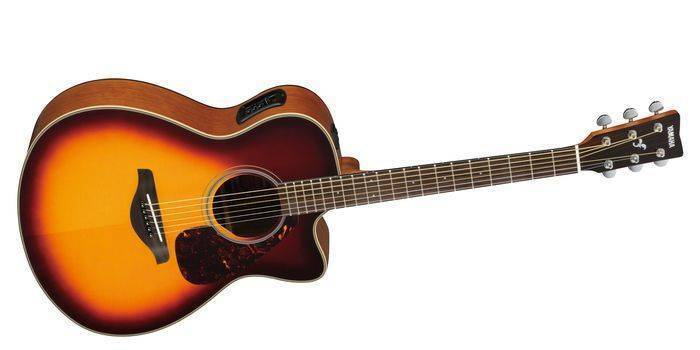 Guitars & Basses Yamaha Fsx700sc Acoustic-electric Folk Guitar Natural Cutaway A Great Variety Of Models