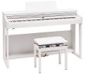 Roland - RP701 Digital Piano with Stand and Bench - White