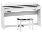 Roland - F701 Digital Piano with Stand and Bench - White