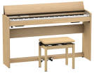 Roland - F701 Digital Piano with Stand and Bench - Light Oak