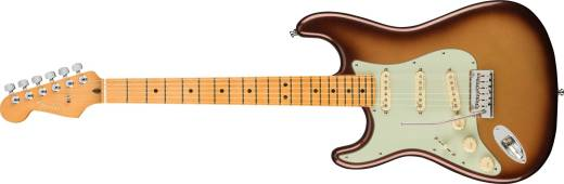American Ultra Stratocaster Left-Hand, Maple Fingerboard - Mocha Burst