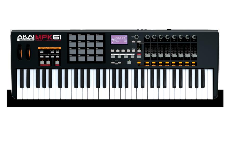 akai usb midi keyboard controller w mpc pads long mcquade musical instruments. Black Bedroom Furniture Sets. Home Design Ideas