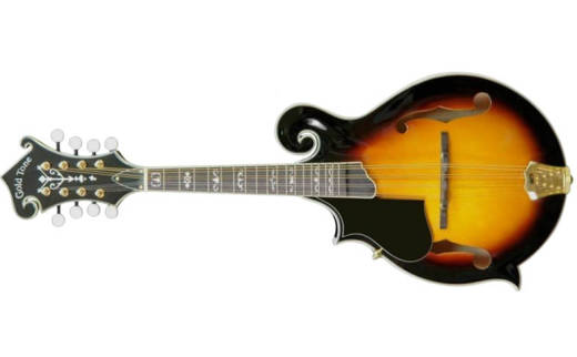 Traditonal F-Style All Solid Wood Mandolin - Left Handed - Two Toned Tobacco