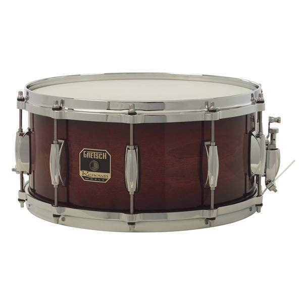 gretsch drums renown maple snare drum 6 5 x 14 cherry burst long mcquade musical instruments. Black Bedroom Furniture Sets. Home Design Ideas