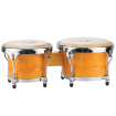 Granite Percussion - 7 & 8.5 inch Bongo Set All Wood - Natural Finish