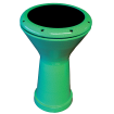 Granite Percussion - 8.5 x 17-inch Tunable Doumbek - Green Finish