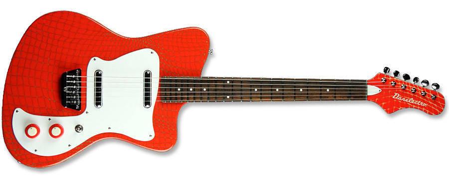 danelectro 67 heaven guitar orange aligator finish long mcquade musical instruments. Black Bedroom Furniture Sets. Home Design Ideas