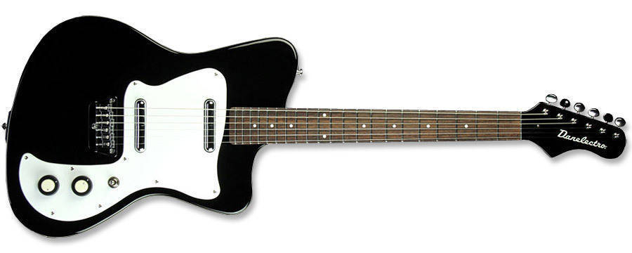 danelectro 67 heaven guitar black long mcquade musical instruments. Black Bedroom Furniture Sets. Home Design Ideas