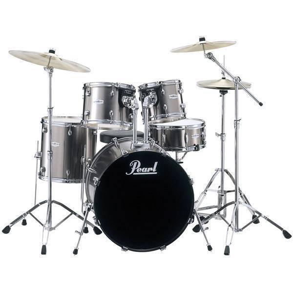 Acoustic Drum Set Parts : pearl forum 5 piece drum kit with cymbals hardware smokey chrome long mcquade musical ~ Vivirlamusica.com Haus und Dekorationen