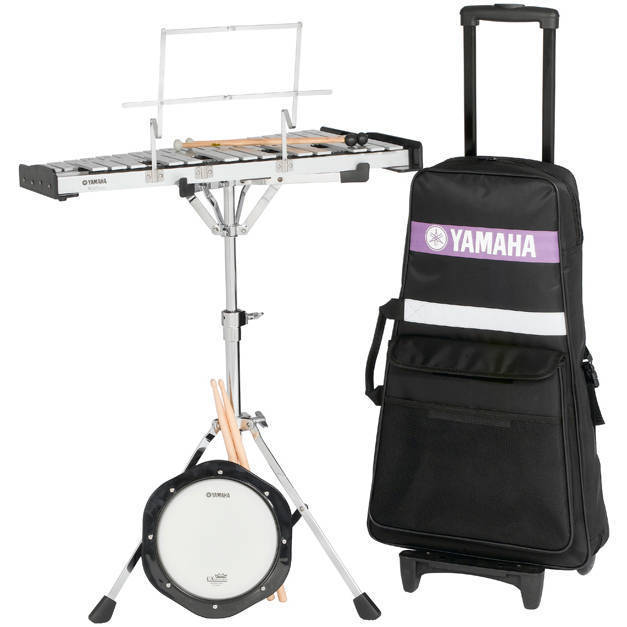 Yamaha student bell kit w rolling cart long mcquade for Yamaha portable drums