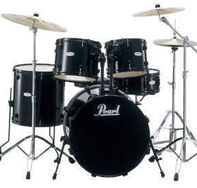 Pearl Forum 5-Piece Drum Kit With Cymbals & Hardware - Black
