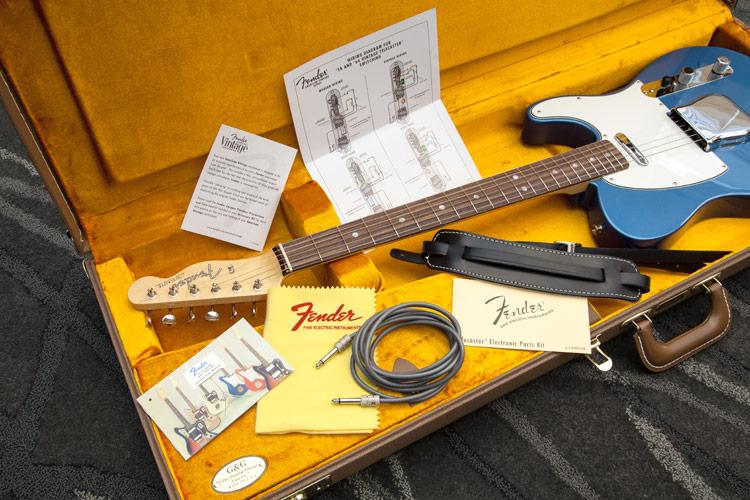 fender american vintage 39 64 telecaster lake placid blue long mcquade musical instruments. Black Bedroom Furniture Sets. Home Design Ideas