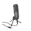 Audio-Technica - Cardioid Condenser USB Mic w/Headphone Port