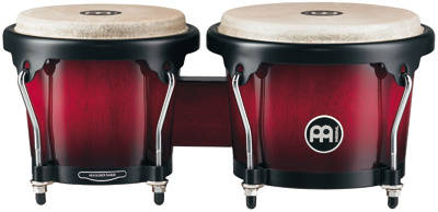 Headliner Wood Bongos - Wine Red Burst