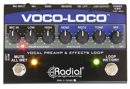 Voco-Loco Mic FX Loop/Switcher for Guitar Pedals