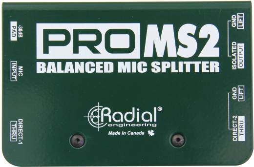 ProMS2 Mic Splitter, 1 In 2 Direct Outs
