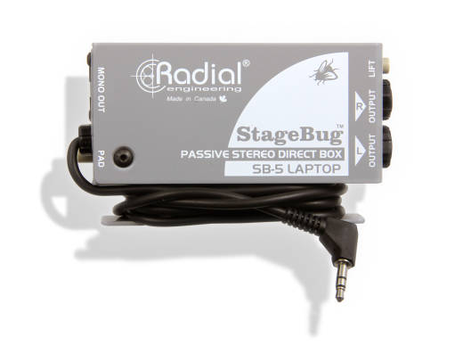StageBug SB-5 Laptop Compact Stereo DI for Computers