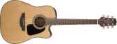 Takamine - G10 Series Dreadnought Cutaway Acoustic/Electric Guitar - Natural Satin